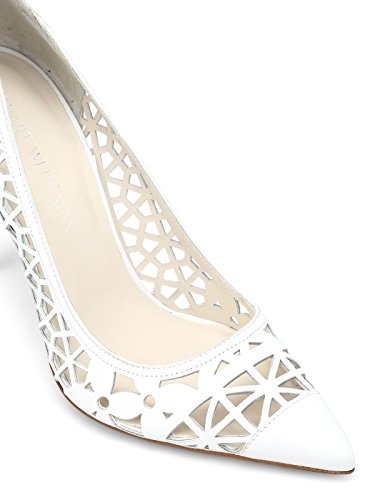 White Weitzman Stuart Faux Women's Cutoptownwhite Pumps Leather vtwwSxqO