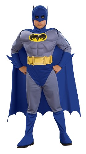 Batman Deluxe Muscle Chest Batman Child's Costume, Toddler, Blue -
