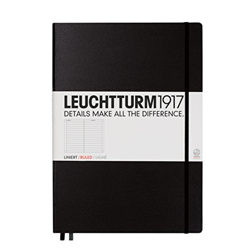 Leuchtturm Master Ruled Notebook A4 Plus, Black