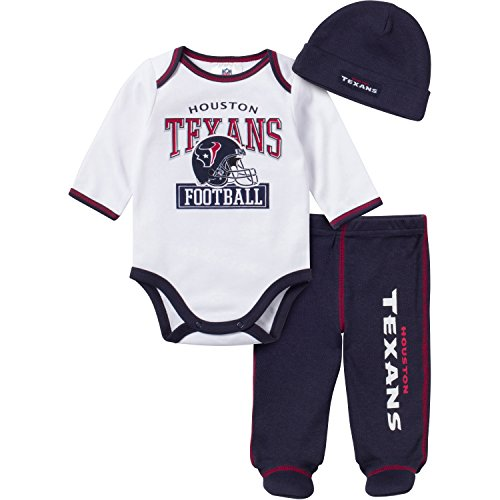 Houston Texans Baby Bodysuit Footed