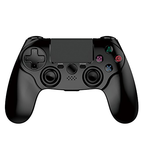 (PS4 Controller Wireless Bluetooth Dual Vibration Gamepad for Playstation 4 Pro Controller Gaming Remote Control Support PS3 PS2 PC (Black))