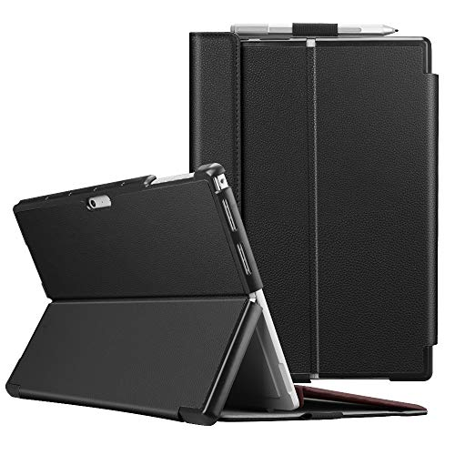 Fintie Protective Case for Surface Pro 6 - Multiple Angle Hard Shell Business Cover, Compatible with Type Cover Keyboard for Microsoft Surface Pro 6 / Surface Pro 5 / Surface Pro 4 (Black)