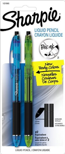 Sharpie Sharpie Pencil Mechanical Pencils, 2 Mechanical Pencils with Fashion Colored Barrels (1801865)