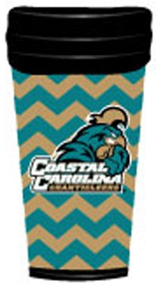 NCAA Coastal Carolina Chanticleers Coffee Tumbler Chevron