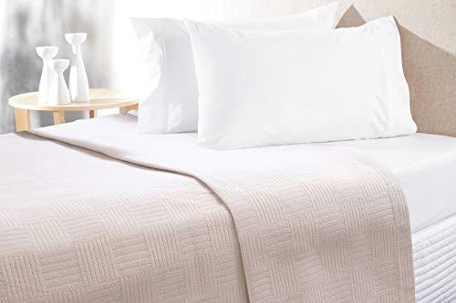 - Chiara Rose Natural Cotton Soft Bed Blanket Thermal Lap Throw Sheet Waffle Weave Blanket Tan Twin