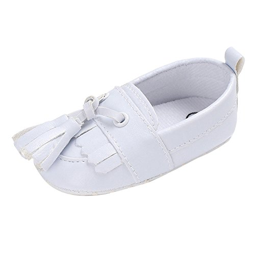 Lanhui Newborn Leather Crib Soft Sole Shoe Sneakers Baby Shoes Boy Girl Shoes White by Lanhui (Image #5)