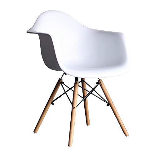JU FU Chair Household Simple Armrest Dining Chair Computer Lounge Chair Office Chair - Multi-Color Optional (Size: 38X38X85cm) @@ (Color : White)