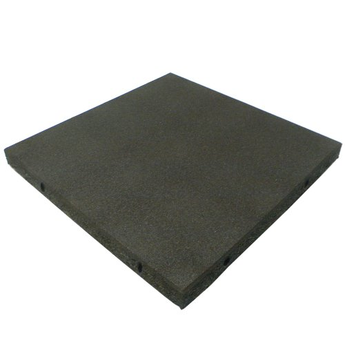 Rubber-Cal 'Eco-Safety' Interlocking Playground Tiles - 2.50 x 19.5 x 19.5 inch - Pack of 10 Playground Mats, 28 Square Feet Coverage - 4 Colors