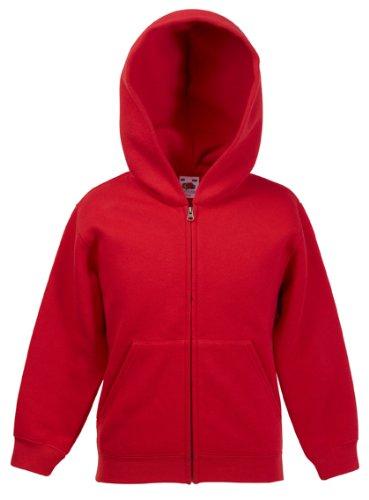 Kinder Kapuzen Sweatjacke Kids Sweatshirt Pullover Hoodie Shirt verschiedene Farben und Größen - Shirtarena Bündel 152,Rot