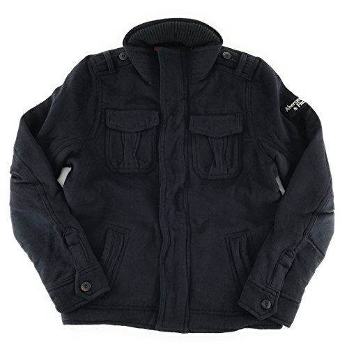 Abercrombie & Fitch Mens Wool Military Jacket X-Large Navy (Abercrombie Fitch Hoodie)