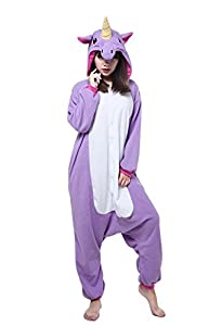 Unicorn Onesie Adult - Feelme Unisex Onesies Pajamas Kigurumi Cosplay Sleepsuit Costume Animal Jumpsuit