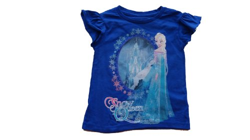 Disney Frozen Elsa - Snow Queen - Girls Shirt (Extra Small (4))