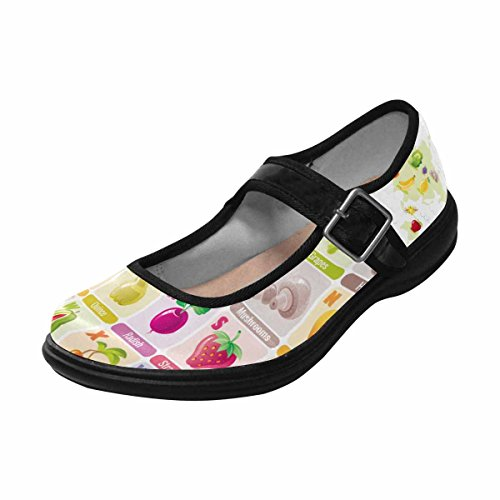 InterestPrint Womens Comfort Mary Jane Flats Casual Walking Shoes Multi 10 4d8E0Ehh00