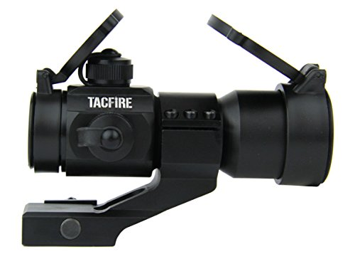 TacFire 1 x 30mm Tactical Dot Rifle Scope Sight with Cantilever Weaver Mount, Red/Green by TacFire Inc