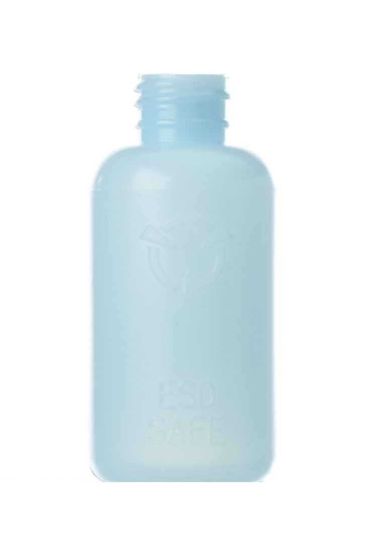 R&R Lotion RSB-2-ESD Polyethylene Round 2 oz Antistatic ESD Safe Storage Bottle with Lid (Case of 50) by R&R Lotion