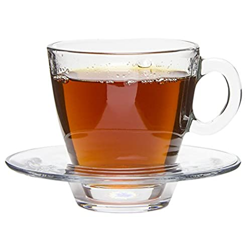 prissy ideas his and her coffee mugs. Tesoro Modern Clear Glass Tea Coffee Cups with Matching Saucers  Set of 6 7 25 oz Amazon com