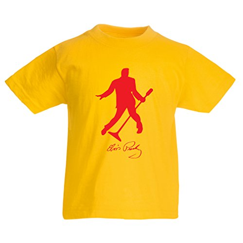 lepni.me T Shirts For Kids I Love You Elvis - Fan Outfits, Concert Clothing (9-11 Years Yellow - Walgreens Gift Certificates