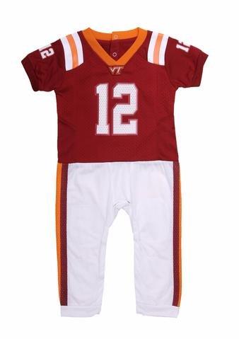 (FAST ASLEEP NCAA Virginia Tech Baby Uniform Romper New (3-6 M))