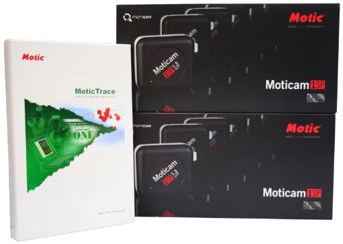 National Optical Forensics Bundle 3 with Moticam 1SP's and Motic Trace Software by National Optical