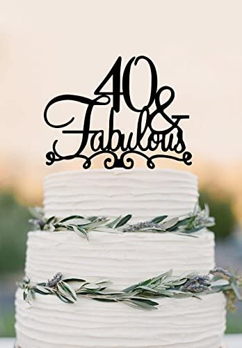 Pleasant 40 Cake Topper Fabulous 40Th Birthday Cake Topper Wedding Cake Funny Birthday Cards Online Alyptdamsfinfo