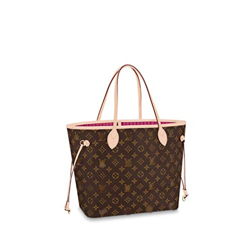HPASS Neverfull Style Designer Woman Organizer Handbag Monogram Tote Shoulder Fashion Bag Medium Size