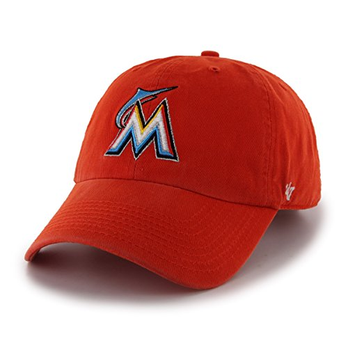 best sneakers 25a37 0b7db  47 MLB Miami Marlins Brand Clean Up Adjustable Cap, One Size, Orange.
