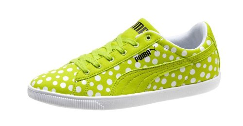 PUMA Glyde Lite Fluo Lo Women's Sneakers (US 8.5, Lime Punch) - Lime Polka Dot Shoes