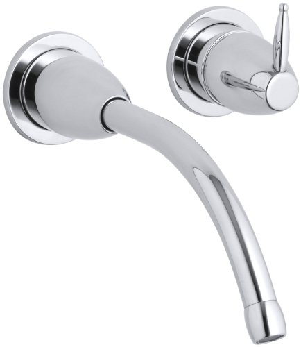 KOHLER K-T196-CP Falling Water Wall-Mount Lavatory Faucet Trim, Polished Chrome ()