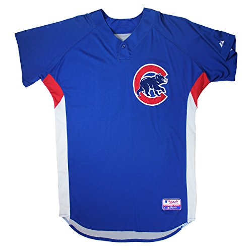 Andrew Cashner #48 2010 Chicago Cubs Game Used Blue Cool Base Batting Practice Jersey (48) - Steiner Sports Certified