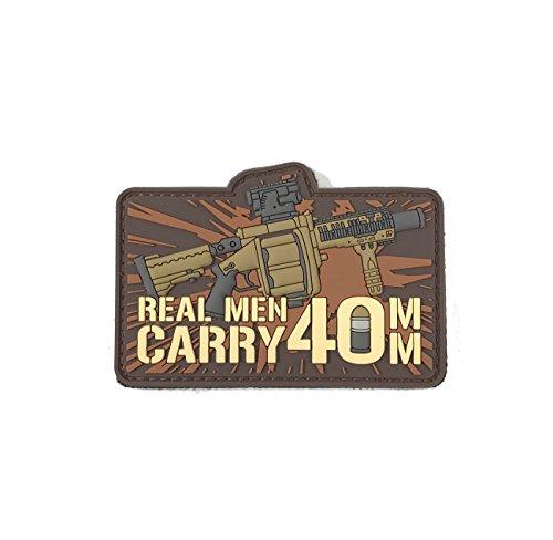 Patriot Patch Co - Real Men Carry 40mm - Morale Patch