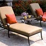Darlee Santa Monica 3 Piece Cast Aluminum Patio Chaise Lounge Set