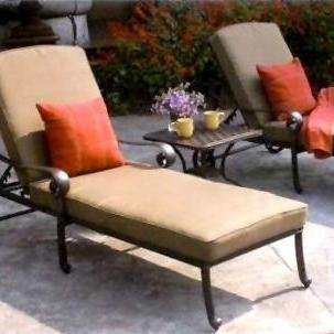 (Darlee Santa Monica 3 Piece Cast Aluminum Patio Chaise Lounge Set)