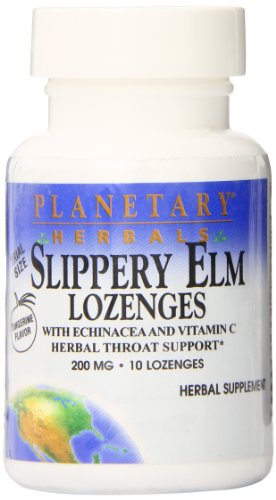 Planetary Herbals Slippery ELM Lozenges with Echinacea and Vitamin C, Tangerine Trial, 10 Count For Sale