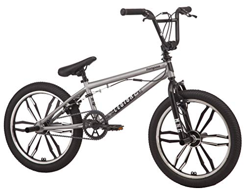 Mongoose Legion Mag Freestyle BMX Bike Featuring Hi-Ten Steel Frame and 40x16T BMX Gearing with 20-Inch Mag Wheels, Silver by Mongoose (Image #2)