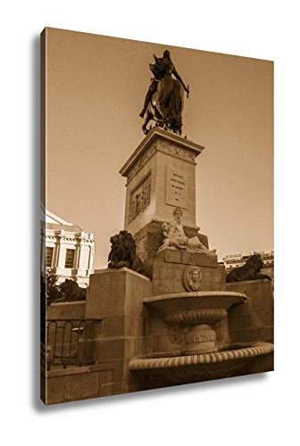 Ashley Canvas Oldest Street In The Capital Of Spain The City Of Madrid Its Architecture And, Wall Art Home Decor, Ready to Hang, Sepia, 20x16, AG5528164 by Ashley Canvas