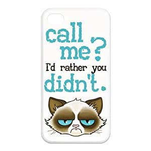Cute Grumpy Cat Cartoon Rubber Cell Phone Cover Case for iPhone 4,4S Cases