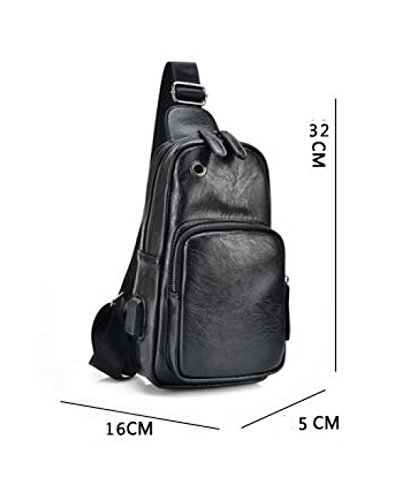 Casual Pockets Sports Backpack Men's Messenger Chest Tide Fashion A Bag Shoulder ZqnWUPPwpx