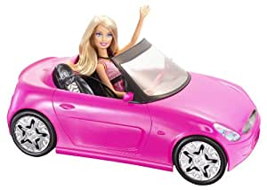 Barbie Glam Pink Convertible and Barbie Doll