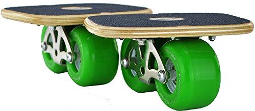 Maple Wooden Cruiser Drift Roller Skate Free Line Skates Skateboard With Wrench Green (Cruisers Line Green)