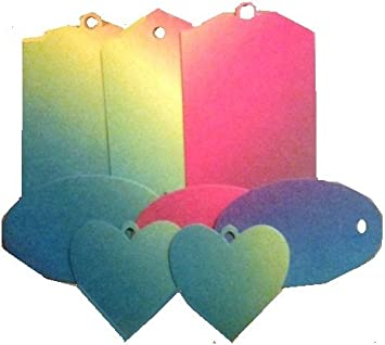 16 rainbow gift tags amazon co uk office products