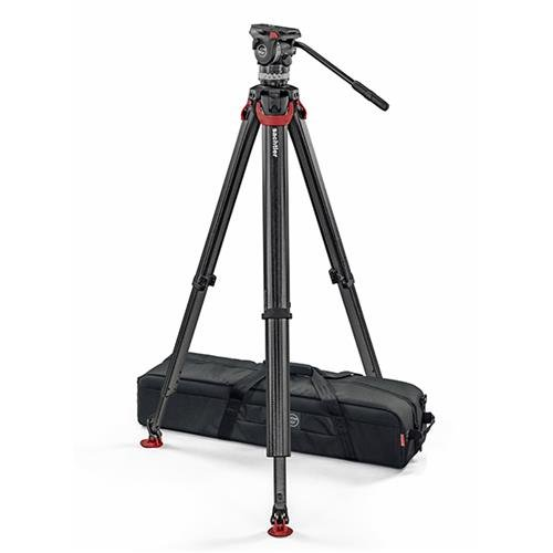 Sachtler System ACE XL Fluid Head with Flowtech 75 Carbon Fiber Tripod by Sachtler