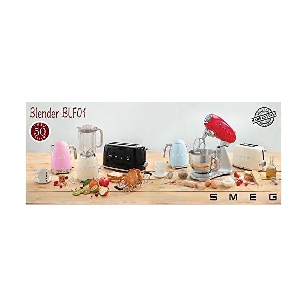 Smeg BLF01BLUS 50s Retro Style Blender, Black 2