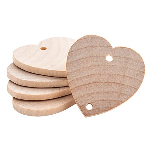 Heart Shaped 1-1/2 inch Real Wooden Board Tags – Wooden Tags For Birthday Boards, Chore Boards or other Special Dates - Bag of 25