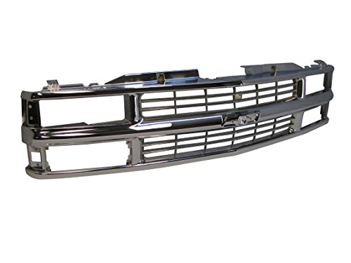 94-02 Chevy C/k Pickup / 94 Blazer / 95-99 Tahoe (Not for Sport) / 94-99 Chevy Suburban Grille All Chrome (For Composite Type Only) GM1200238 ()