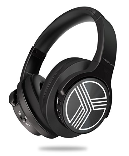 Pc Overhead Audio (TREBLAB Z2 - Supreme Bluetooth Wireless Headphones - Active Noise Cancelling T-Quiet, Flawless aptX Sound, Neodymium 40mm Speakers, Cloud-Like Comfort Best For Airplane Travel, Office - Microphone)