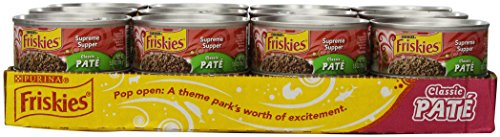 Purina Friskies Pate Supreme Supper Cat Food - (24) 5.5 oz. Pull-top Can
