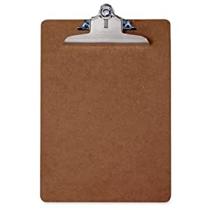 Saunders Recycled Hardboard Clipboard with High Capacity Clip, Letter Size, 8.5 inch x 12 inch, 1 Clipboard (05612)