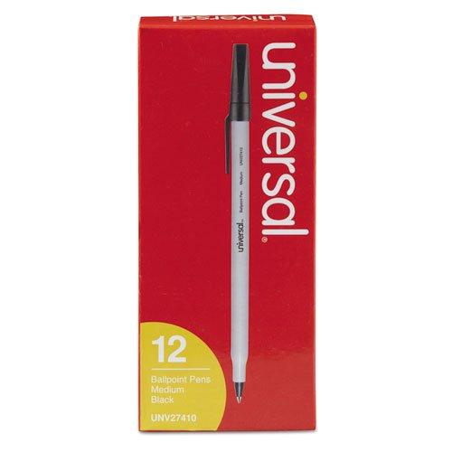 - Universal Economy Ballpoint Stick Oil-Based Pen, Black Ink, Medium, Dozen
