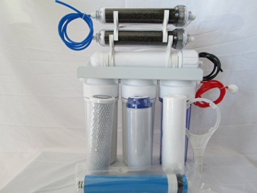 Aquarium Reef Reverse Osmosis water filter 6 stage RO/DI SYSTEM 75 GPD USA by Premier