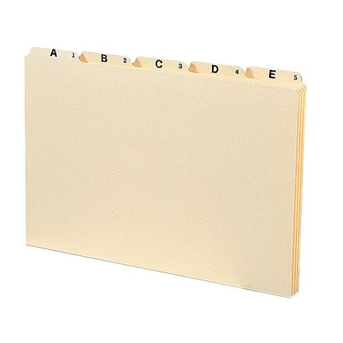 Smead Heavyweight File Guides, 1/5-Cut Tab (A-Z), Legal Size, Manila, Set of 25 (52176) ()